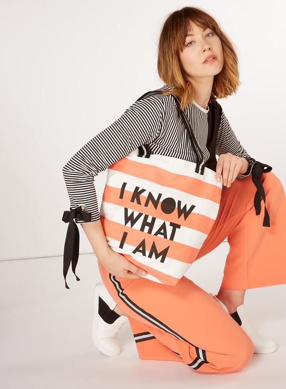 GFW Multicoloured Striped Tote Bag