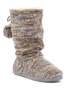 Sequin Slouch Boot Slippers
