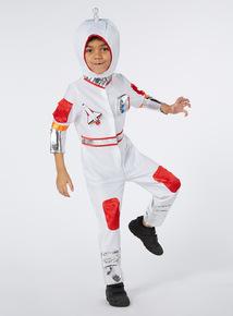 Kids White Astronaut Costume (3-10 years)