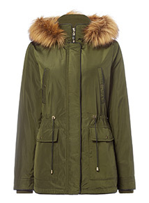 Green Short Parka Coat