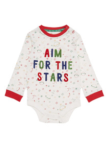 Cream Aim For The Stars Bodysuit