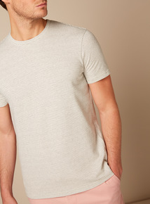White Textured Stripe T-Shirt
