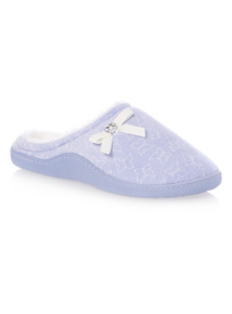 Lilac Butterfly Print Cupsole Slippers