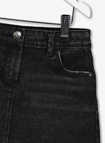 Black Denim Skirt (3-14 Years)