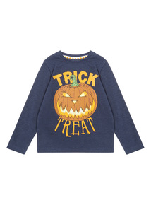 Navy Halloween Trick or Treat Tee (3-14 years)