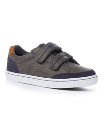 Grey Double Velcro Trainers