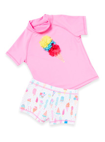 Multicoloured Ice Cream Sunsafe Set (1-6 years)