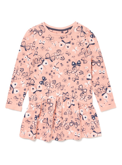 Pink Little Gardener Sweat Dress (9 months-6 years)