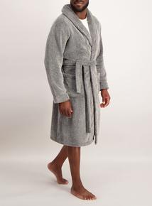 Grey Fleece Dressing Gown