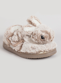 Light Brown Bunny Slippers (4 Infant - 12 Child)