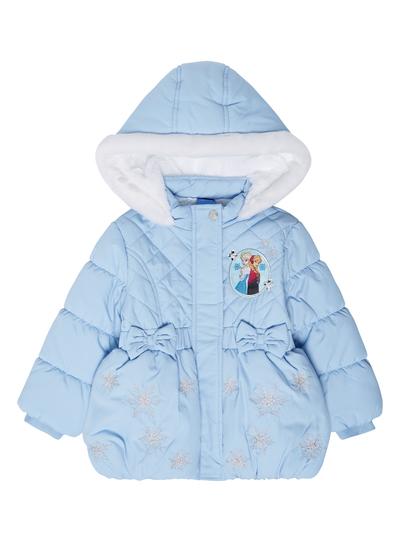 666f0feb0076 Kids Girls Blue Frozen Puffa Jacket (9 months-5 years)