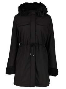 Black Borg Parka Coat