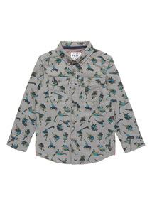 Grey Dino Print Shirt (9 months-6 years)