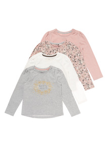 Multicoloured Four Pack Long Sleeve Tops (9mnths-6years)