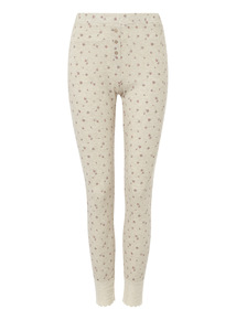 Oatmeal Floral Pointelle Bottoms