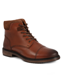 Sole Comfort Tan Lace Up Boots