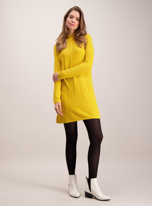 Mustard Cable Knit Swing Tunic