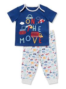 Multicoloured 'On the Move' Pyjamas (0-24 months)