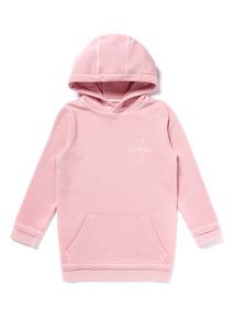 Pink 'Los Angeles' Slogan Print Long Length Sweatshirt (3-14 years)