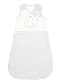 Grey Slogan Sleeping Bag (0-12 months)
