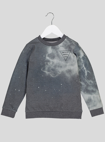 Grey 'Awesome' Crew Neck Sweatshirt (3-14 years)