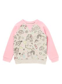 Multicoloured Good Vibes Sweatshirt (9 months-6 years)