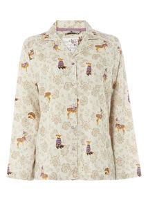 Woodland Print Pyjama Top