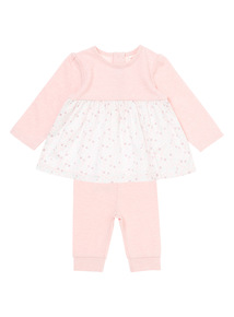Girls Floral Top and Leggings Set (0-12 months)