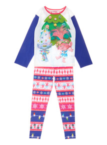 Multicoloured Christmas Trolls Pyjama Set (3-10 years)