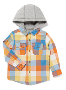 Multicoloured Check Hooded Shirt (9 months-6 years)