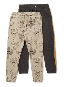 2 Pack Multicoloured Cactus Joggers (9 months-6 years)