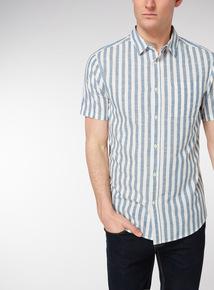 Blue Stripe Cotton Shirt