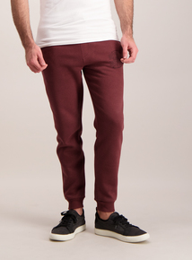 Burgundy Regular Fit Slogan Jogger