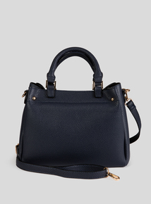 Navy Textured Multi Compartment Bag