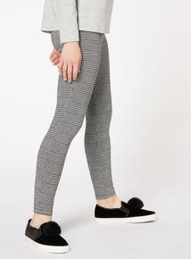 Monochrome Check Leggings