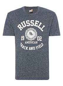 Online Exclusive Russell Athletic Blue Grindle Tee