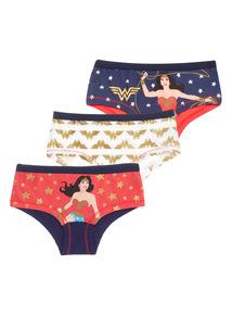 3 Pack Wonder Woman Briefs (4-13 years)
