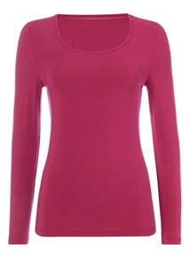 Bright Pink Heat Active Long Sleeve Top