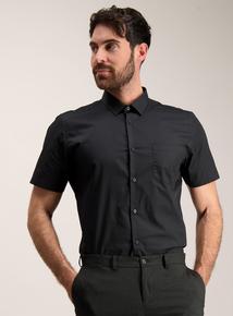 Black Slim Fit Short Sleeve Shirts 2 Pack