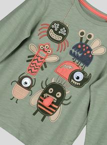 Green Multi Bug Hero Long Sleeve T-Shirt (9 months - 6 years)