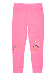Pink Unicorn Embroidered Legging (9 months - 5 years)