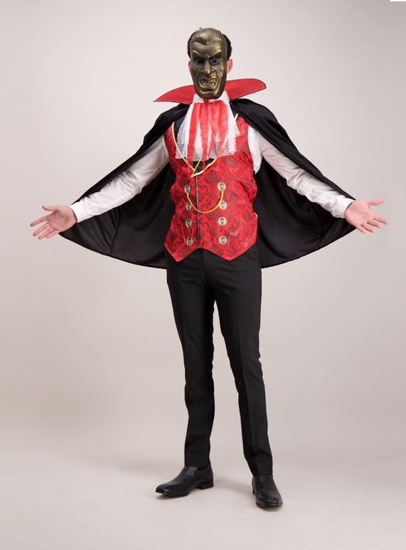 Online Exclusive Adult Black Halloween Vampire Costume (Size XS- XL)