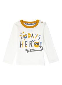 Cream Hero Slogan Tee (0-24 months)