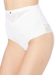 Gok White High Waist Brazilian Brief