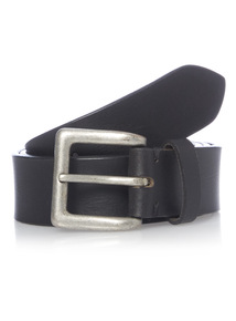 Black Casual Leather Jeans Belt