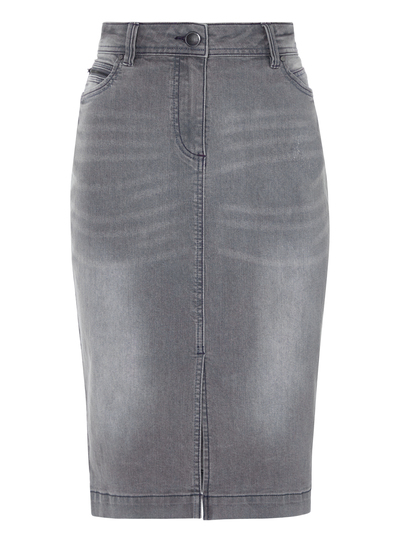 first rate discount pretty cheap Womens Grey Denim Pencil Skirt | Tu clothing