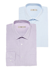 Lilac 2 Pack Tailored Fit Shirt
