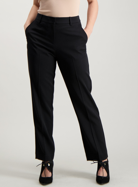 6d28d966f739 Womens PETITE Black Slim Leg Stretch Trousers | Tu clothing