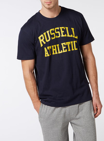 Online Exclusive Russell Athletic Navy Tee