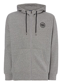 Russell Athletic Grey Logo Hoodie